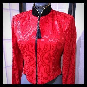 Jessica Howard Red Blazer Jacket